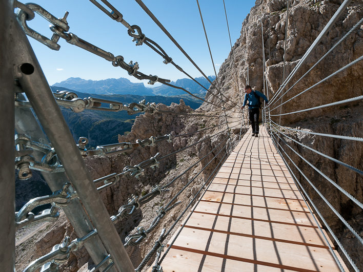 The Lagazuoi mountain is one of the most beautiful of the Dolomites. You can reach the top with a cable car, with a medium level hike or for the more skilled there is a stunning via Ferrata.