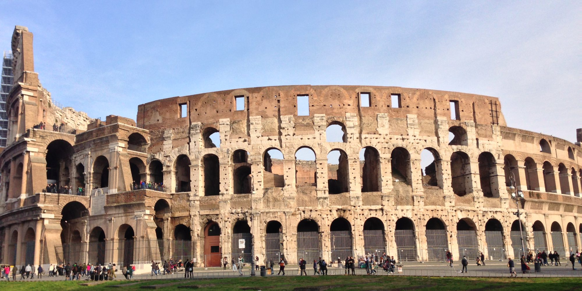The Colosseum is a must to be seen in Rome, recently has been renovated by the Tod's patron, Della Valle.