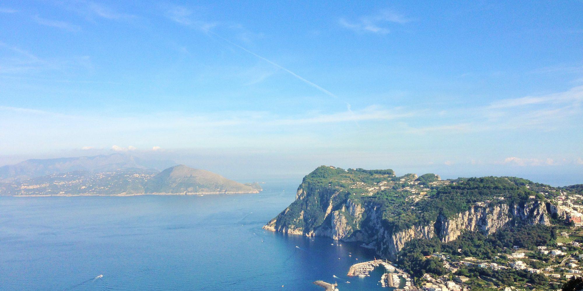 Capri view from Villa San Michele over the Marina Grande Port