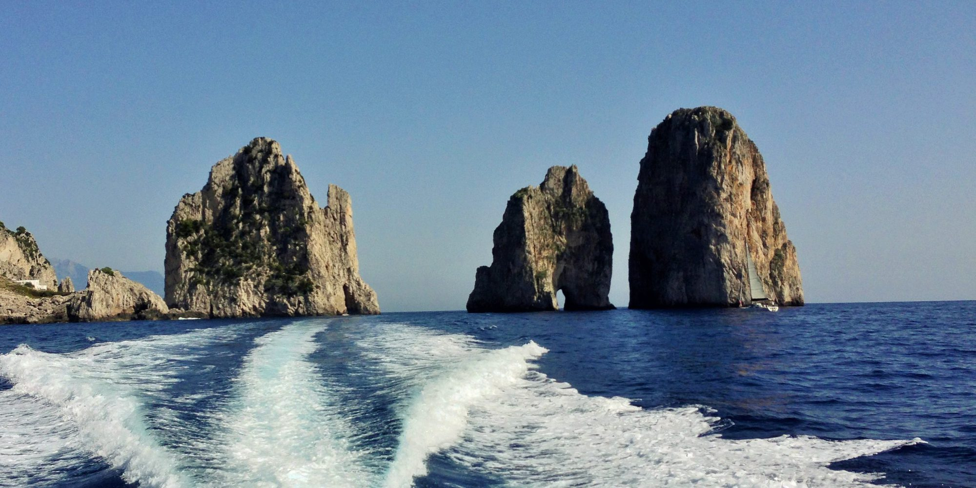 Faraglioni in Capri are famous worldwide also for the many spots of Dolce & Gabbana