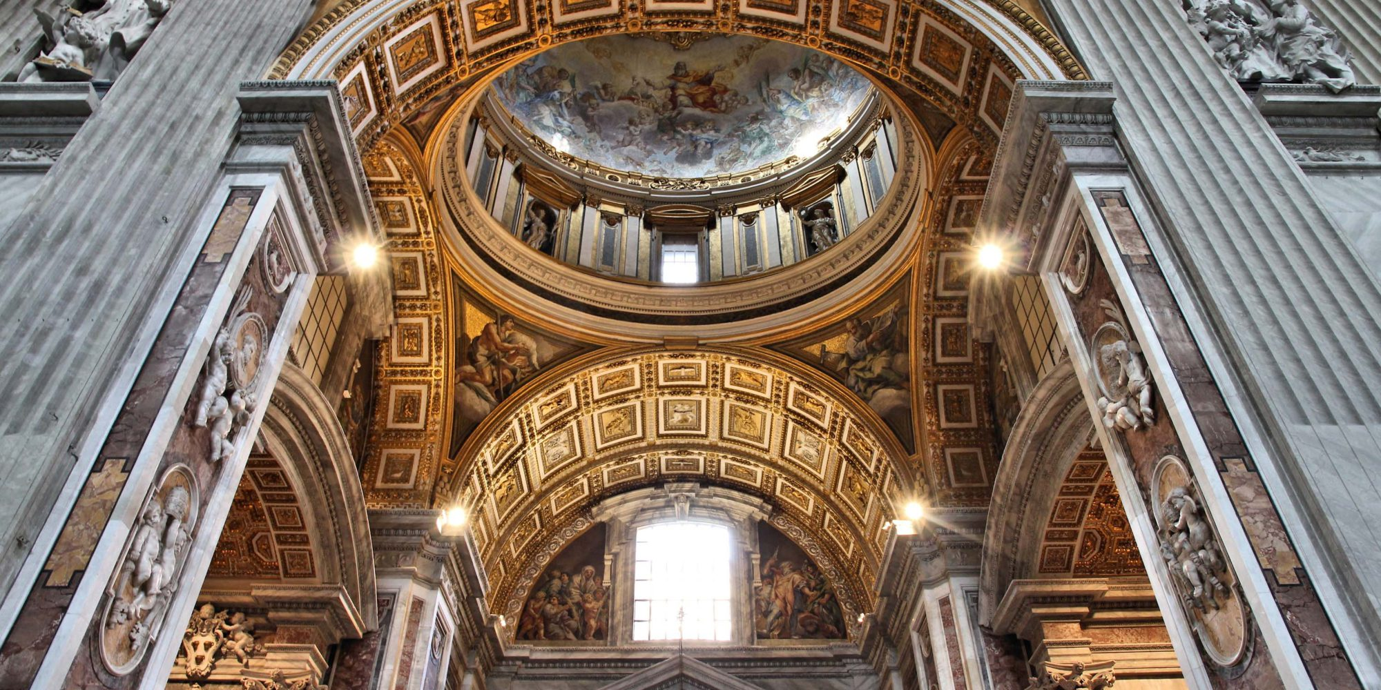 Saint Peter's Basilica is the largest church worldwide rich in artistic treasures among the most admired and loved in the world