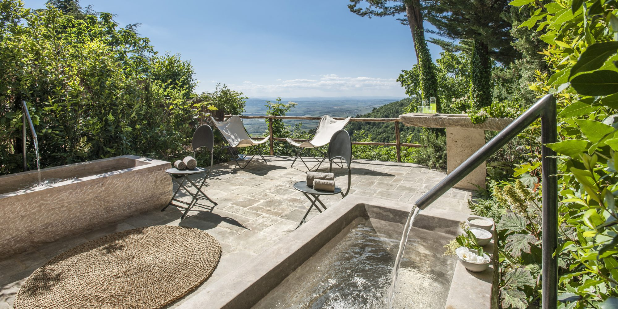 From the Monteverdi Tuscany Spa you will enjoy a magnificient view of the Val d'Orcia, a UNESCO World Heritage site since 2004 and many beautiful landscapes.