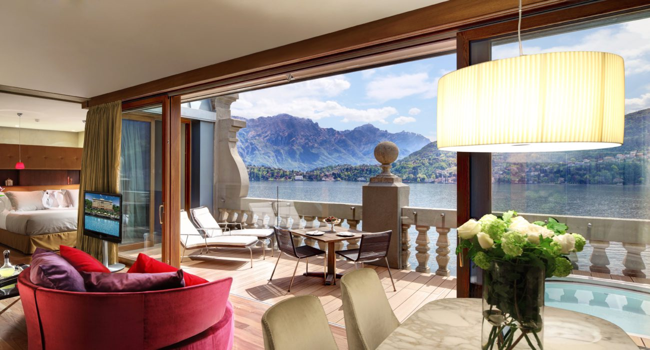 Rooftop Suite at the Grand Hotel Tremezzo with stunning view on the Lake Como and Bellagio