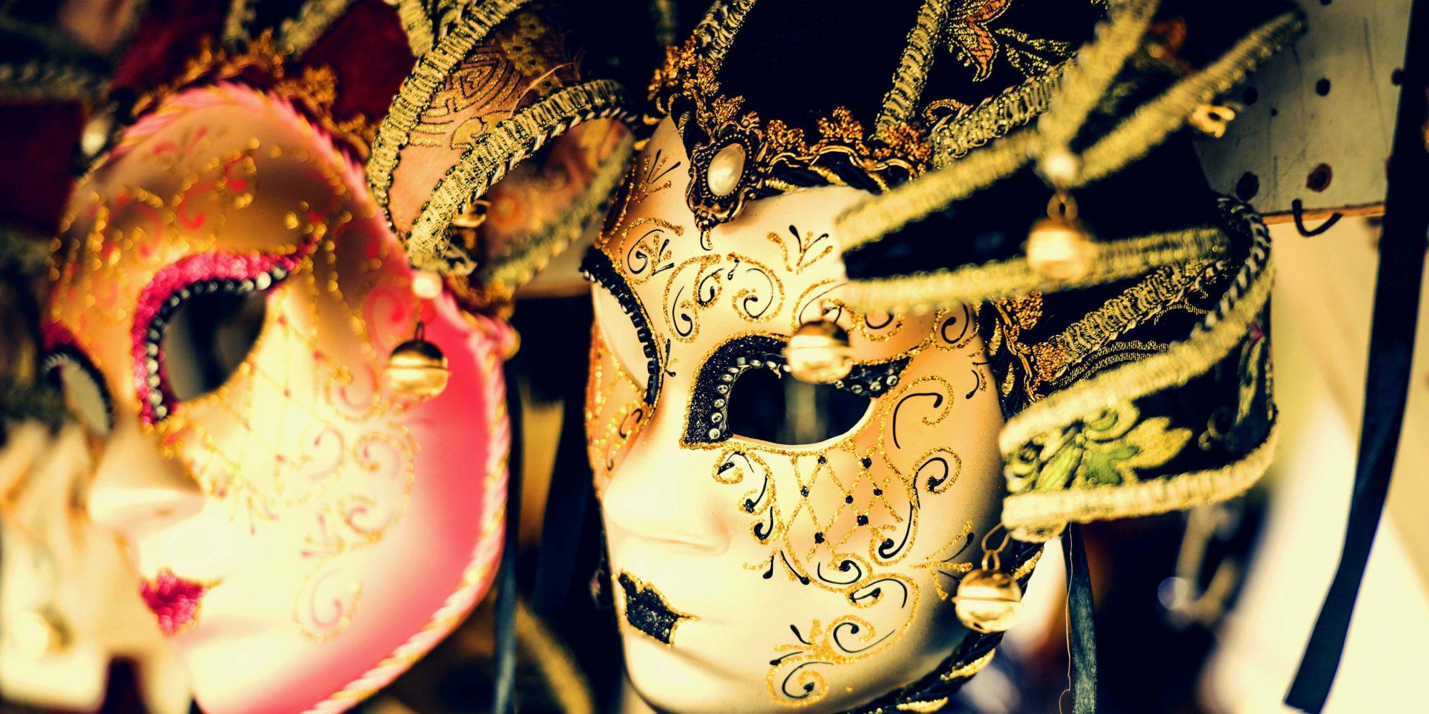 Venetian carnival masks are beautiful decorated